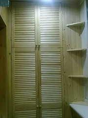 шкаф из дверей жалюзи - foto 2
