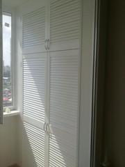 шкаф из дверей жалюзи - foto 13