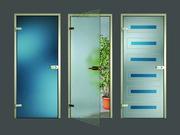 Цельностеклянные интерьерные двери