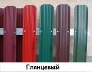 Штакетник металлический ширина 115мм (глянец,  матовый,  под дерево,  под камень). 32 цвета. - foto 0