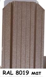 Штакетник металлический ширина 115мм (глянец,  матовый,  под дерево,  под камень). 32 цвета. - foto 4