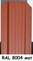 Штакетник металлический ширина 115мм (глянец,  матовый,  под дерево,  под камень). 32 цвета. - foto 19