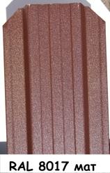Штакетник металлический ширина 115мм (глянец,  матовый,  под дерево,  под камень). 32 цвета. - foto 20