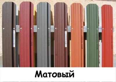 Штакетник металлический ширина 115мм (глянец,  матовый,  под дерево,  под камень). 32 цвета. - main