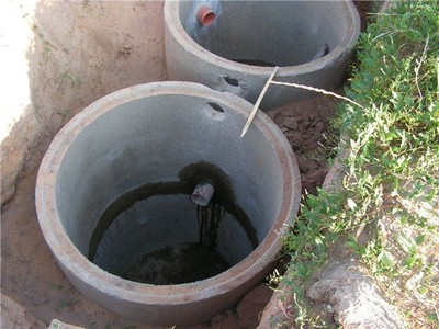 Канализация из бетонных колец - main