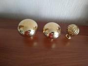 Латунные шары,  верхушки для лестниц. Латунь декоративная