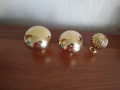 Латунные шары,  верхушки для лестниц. Латунь декоративная - main