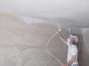 Покраска краскопультом - потолков,  стен,  в квартире,  коттедже,  офисе