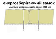 Седвіч-панелі стінові поліуретан (PUR) та пінополіізоціанурат (PIR) - foto 2