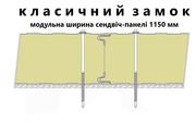 Седвіч-панелі стінові з наповнювачем мінеральна базальтова вата - foto 0