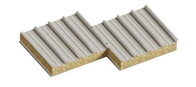 Седвіч-панелі дахові з наповнювачем мінеральна базальтова вата - main