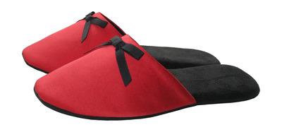 Домашние тапочки женские «Красный атлас» - main