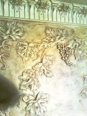 Нанесение декоративной штукатурки Киев,  веницианка,  роспись лепнины - foto 2