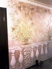 Нанесение декоративной штукатурки Киев,  веницианка,  роспись лепнины - foto 5