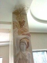 Нанесение декоративной штукатурки Киев,  веницианка,  роспись лепнины - foto 9