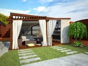 Визуализация коттеджей , домов ,  беседок,  зоны барбекю - foto 4