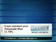 Акция!!! - Сотовый поликарбонат Polygal PolyShade Blue(Израиль) 10 мм. - foto 1