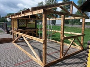 беседка деревянная 3х3 метра готовая